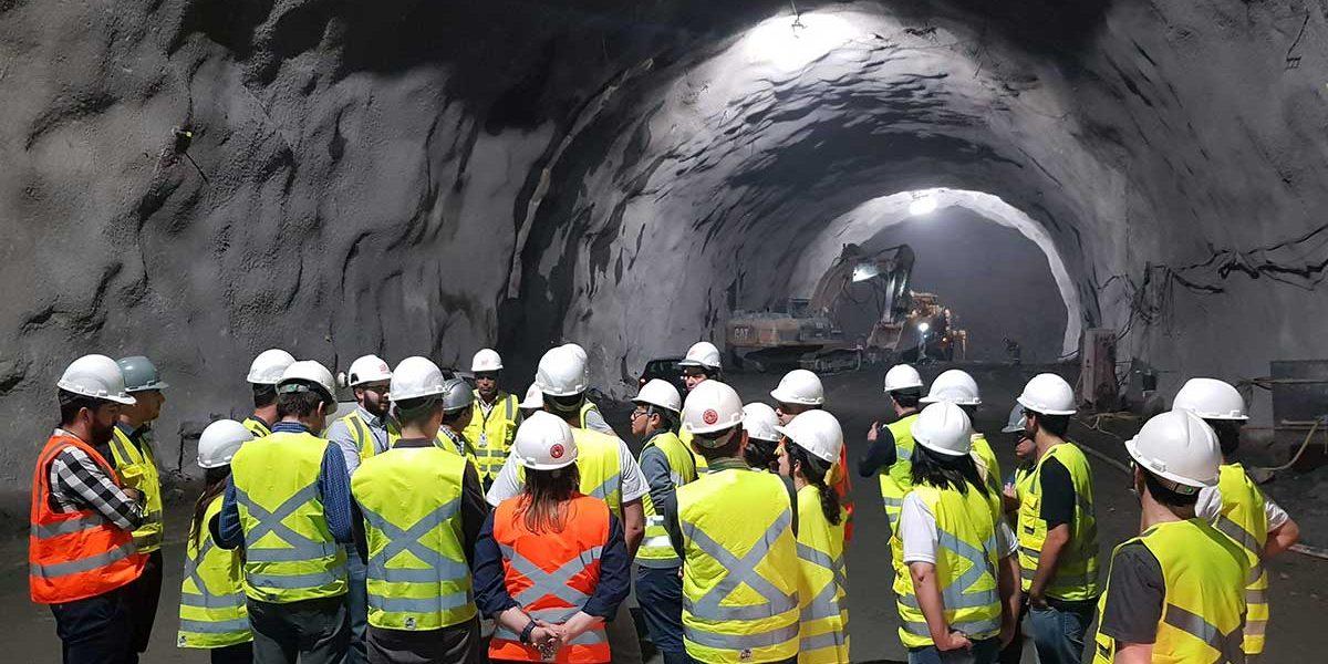 CBT-YM visita obras do maior túnel do Brasil, na rodovia dos Tamoios
